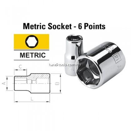 "1/2"" 6 Point Standard Sockets - Metric"