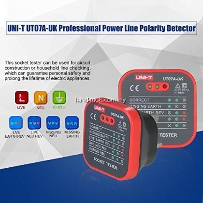 UNI-T UT07A-UK 18 AMP ELCB & SOCKET TESTER