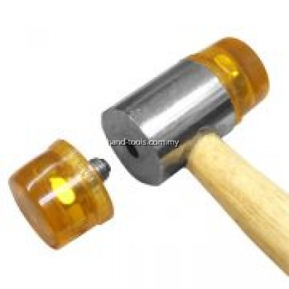 20mm 255mm(L)PLASTIC MALLET HAMMER With Wooden Handle(66-PM620R)