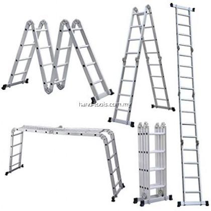 HAM8010-A 4 FOLDS X 4 STEPS ALUMINIUM MULTI-FUNCTION LADDER (BIG JOINT)