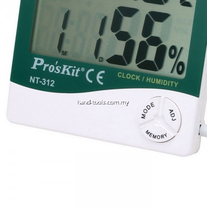 Pro'sKit NT-312 Digital Temperature Humidity Meter With Probe